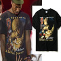 2017 NEW TOP KANYE WEST JAY-Z 2PAC figure printing men short sleeves t shirt Hiphop Fashion Casual Cotton TUPAC Tee black M-XXL