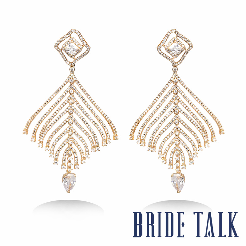 BRIDE TALK Luxury Brand New Design best-selling Drop Earrings Jewelry Free Shipping Shiny Cubic Zirconia Suitable Hot for womenBRIDE TALK Luxury Brand New Design best-selling Drop Earrings Jewelry Free Shipping Shiny Cubic Zirconia Suitable Hot for women