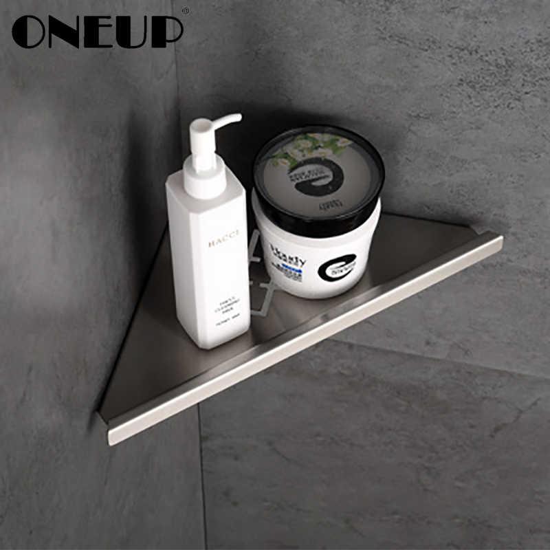 Onjing étagère de salle de bain murale | Étagères d'angle de salle de bains, acier inoxydable brossé étagère de salle de bain rangement de douche accessoires de salle de bain, étagères de rangement