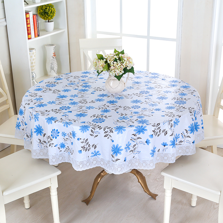 waterproof wipe clean round pvc vinyl tablecloth dining kitchen table cover protector oilcloth vinyl fabric cr. beautiful ideas. Home Design Ideas