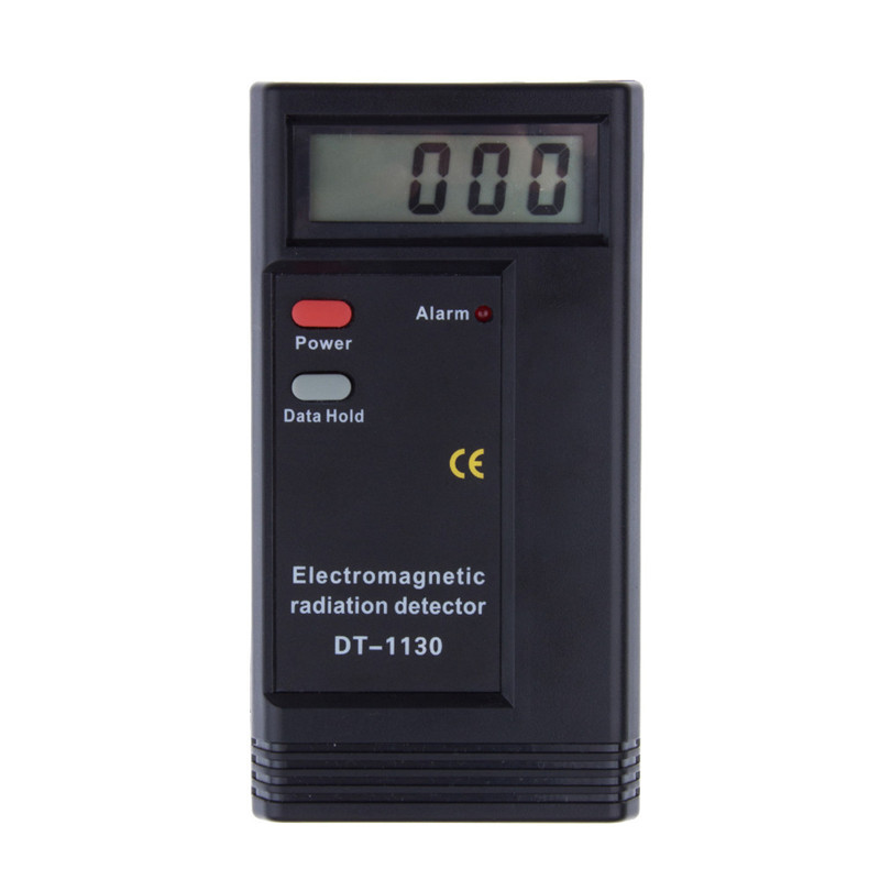 1Pc Professional Digital LCD Electromagnetic Radiation Detector EMF Meter Dosimeter Tester Free Shipping household radiation test pen electromagnetic radiation tester sound and light alarm test pen detection measuring tools
