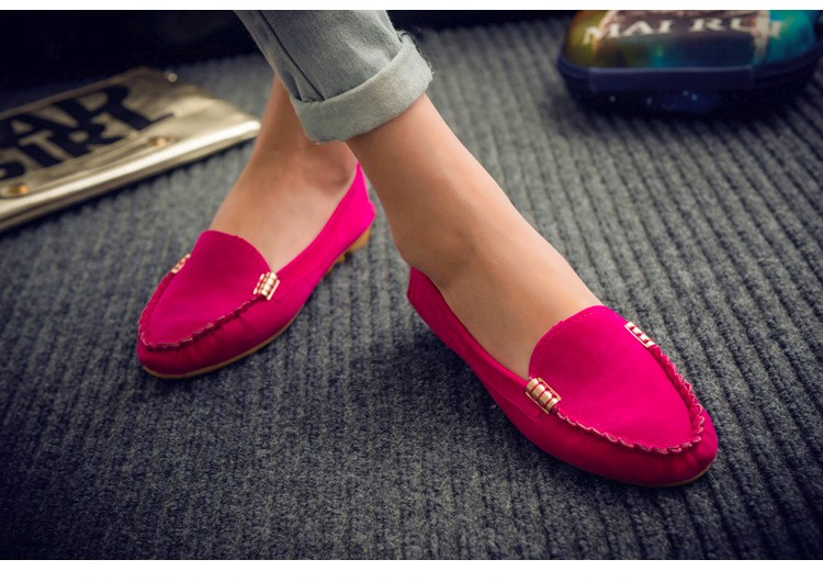 Hot Sale 2016 Summer Woman Flats New Fashion Pure Color Wild Concise Flat Casual Shoes Round Toe Comfortable Female Shoes DT81 (1)