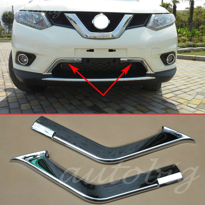 ABS Front Upper Grille Grill Cover Trim For Nissan Rogue X-Trail T32 2014-2016