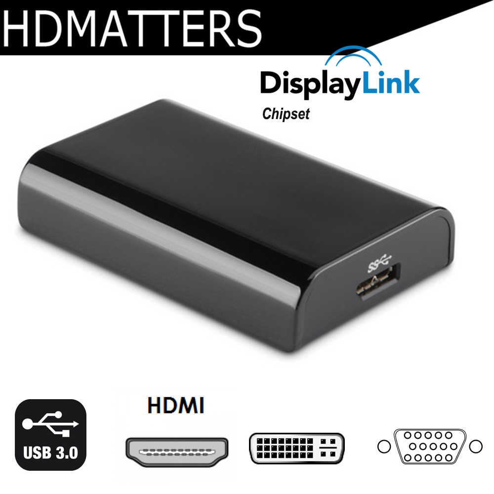 USB 3.0 untuk HDMI Vga Dvi Display Multi Adaptor Displaylink USB 3.0 TO VGA DVI Converter untuk Windows 10/ 8/7 Apple Mac OS