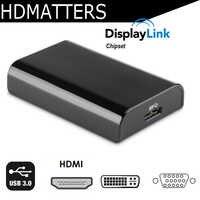 USB 3,0 a HDMI VGA DVI adaptador de pantalla múltiple displaylink USB 3,0 a VGA DVI convertidor de windows para windows 10/8/7/apple mac os