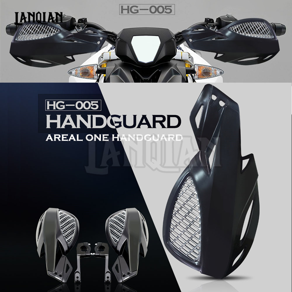 motorcycle accessories hand guards motocross motorcycle universal plastic 22mm for honda CRR 600 RR YAMAHA KAWASAKI Z800 NINJA atv motorcycle wind shield handle hand guards motocross transparent handguards for honda cbf600 sa cbf1000 a cb1100 gio nc750