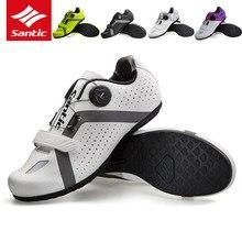 Santic обувь для велоспорта для мужчин и женщин, Мужская обувь для горного велосипеда, резиновая противоскользящая обувь для велосипеда, Zapatillas Ciclismo