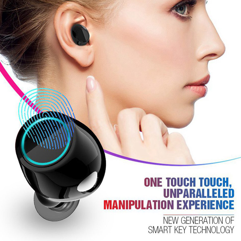 m&j ipx5 waterproof bluetooth 5.0 headphones and sport earbuds for smartphones
