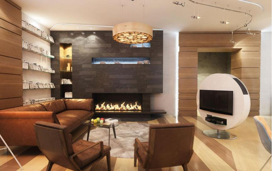 Free Shipping To Door 18 Inch Long Remote Control Silver Modern Eletric Ethanol Fireplace Burner