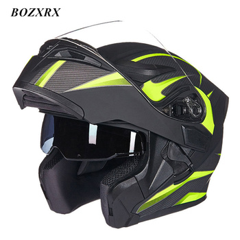 BOZXRX Double Lense Motorcycle Helmet Full Face Helmet Casco Racing Capacete with Sun Visor Capacete Casque moto Capacete