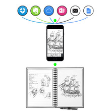 Elfin book 2 Erasable Reusable Smart Microwave Elfinbook Notebook Wave Cloud Erase Evernotes Notepad Note Pad Lined With Pen