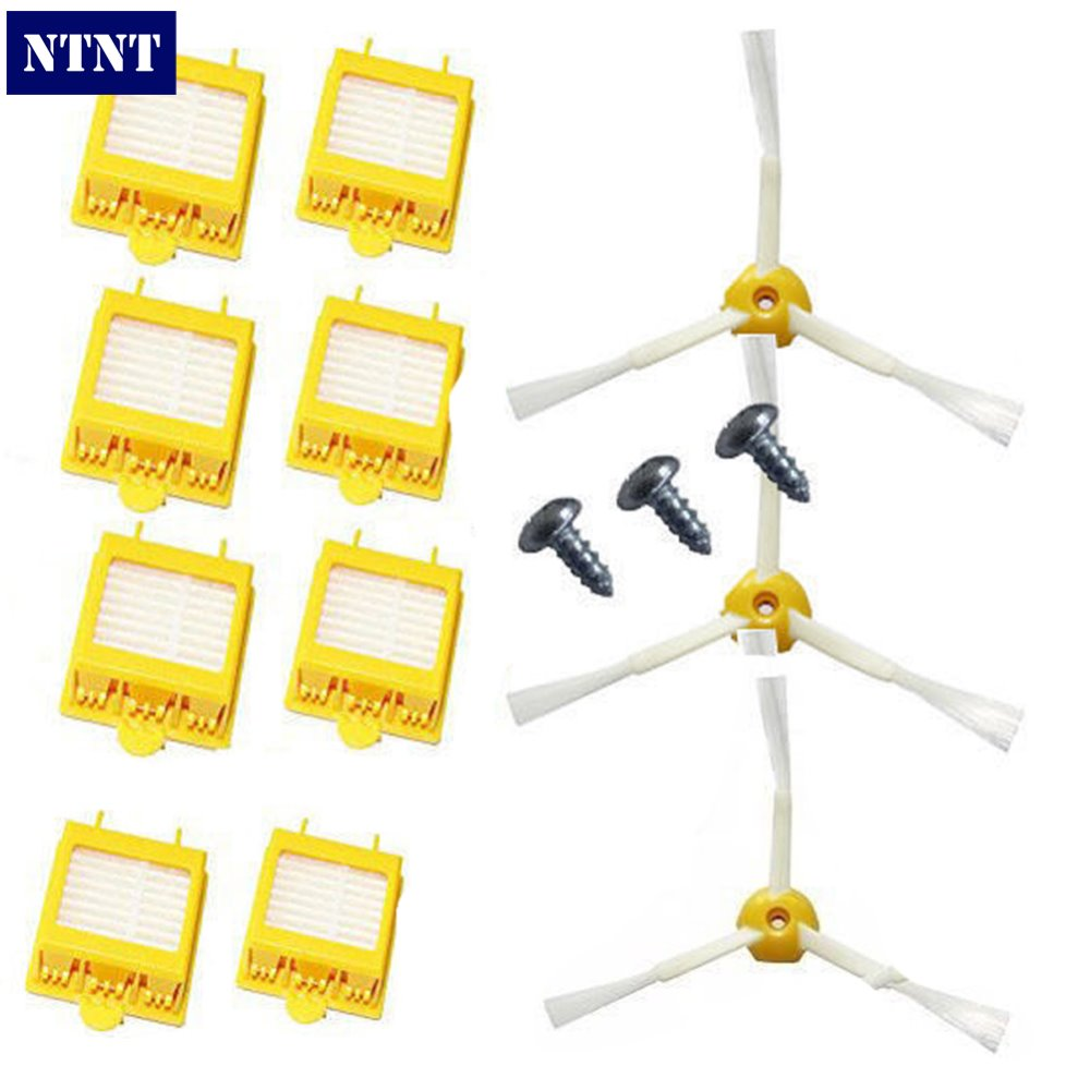 NTNT Free Post New 8 Filters + Brush 3 Armed for iRobot Roomba 700 Series 760 770 780 Clean Screws ntnt free post new 50x side brush 3 armed for irobot roomba 500 600 700 series 550 560 630 650 760