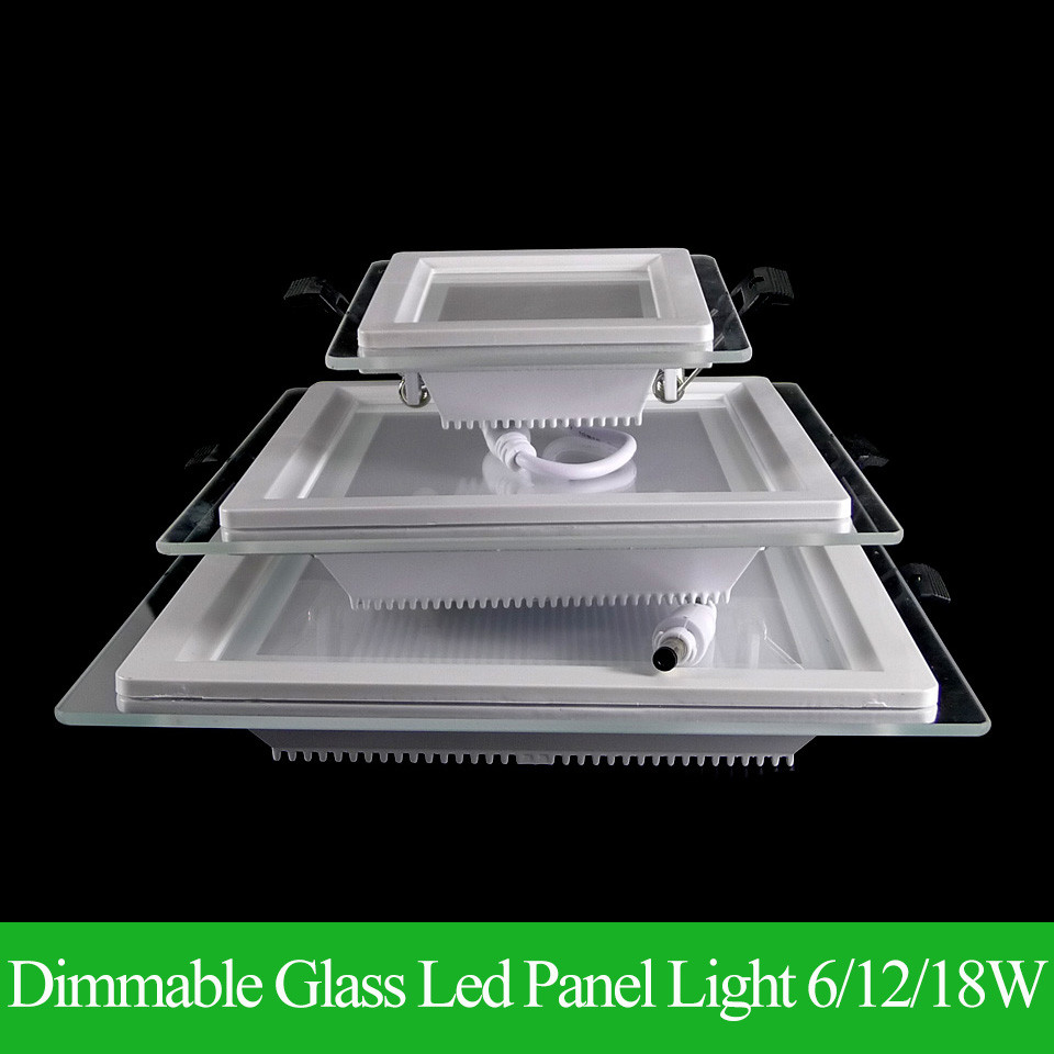 Dimampatkan Panel LED Downlight Super Bright Glass Square Ceiling Panel Lampu Tersembunyi SMD 5360 LED Spot Light Bulb AC110V 220V