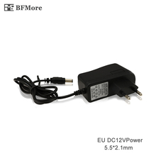 BFMore CCTV System EU Power Adapter AC 100~240V 50/60Hz Input to DC 12V 2A 2000MA Output Standard for CCTV Power FreeShipping