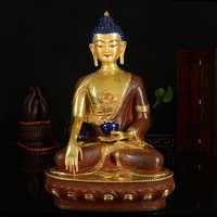 Статуя буддистского буддиста большого # GOOD #, 33 см, эффективная защита безопасности, тибетский, непальский, с золотым покрытием, шакья, Мани, л...