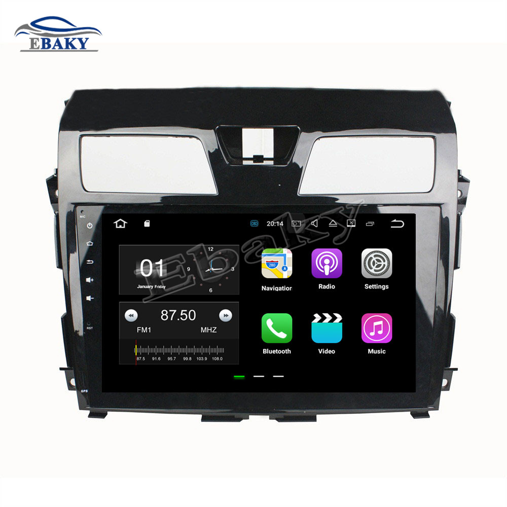 NaviTopia 10.1inch 1024*600 Quad Core 2GB Android 8.1 Car Radio player for NISSAN Tenna 2013 2014 2015GPS Navigationno dvd slot