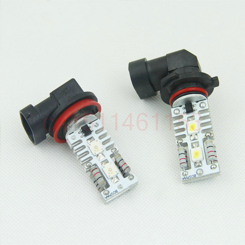 цены  Free Shipping 2pc/lot car-styling LED Lights Hi-Q H8 Fog lamps (from 2000/09) For Bmw E39 530 2002