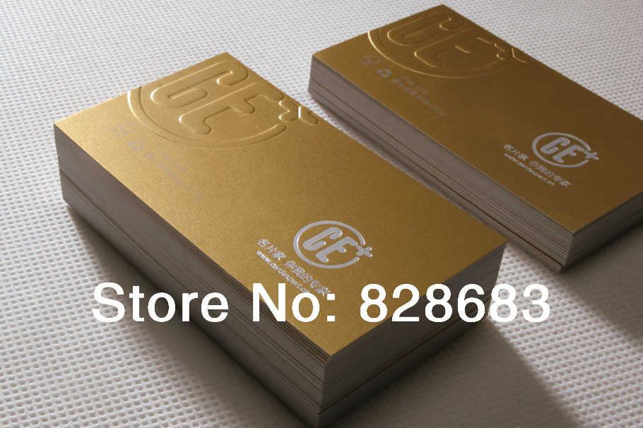 260grm Blank Wiredrawing Metallic art paper business cards with ...