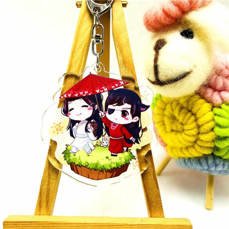 Anime Mo Dao Zu Shi Sleutelhanger Acryl Cartoon Figuur Lan wangji Wei wuxian Zak Decoratie Auto Sleutelhouder Ketting Hangers sleutelhangers