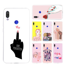 Feminist Girls Phone Case for Xiaomi Redmi S2 Y3 Y2 Note 7 7S 6 5 Pro 4 4X Mi F1 9 8 A2 Lite Pattern Cover Capa Coque