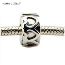 Fila de amor corazones beads clip mujeres diy esterlina de plata-joyería apta pandora encantos pulseras de plata 925 original bijouterie regalo