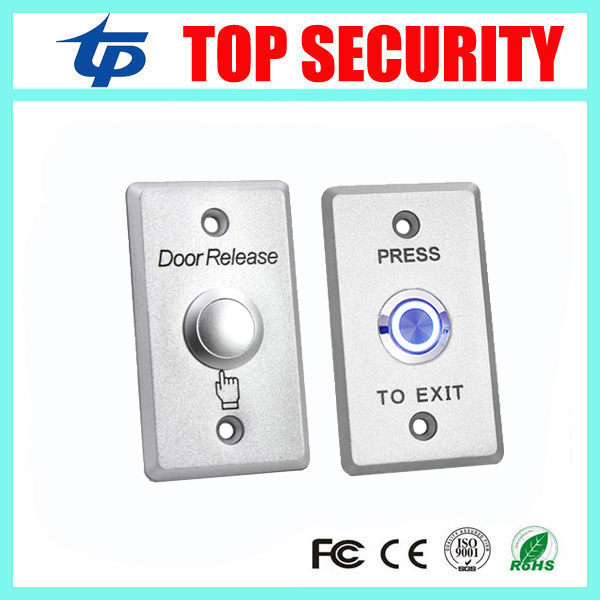 Door Release Buttons For Access Control System Led Light Exit Switch NO/NC/COM Exit Button Zinc Alloy Door Push Exit Button lpsecurity stainless steel door access control led backlit led illuminated push button door lock release exit button switch