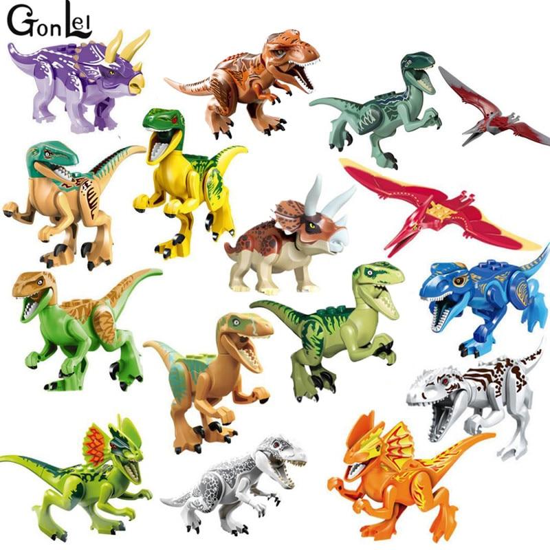 (GonLeI) Jurassical World Park Dino World Dinosaur Toys Model Kids Bricks Christmas Gift Toys