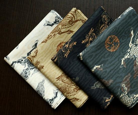 Good Quality Cotton Handkerchiefs,52*52cm Pocket Square,Dragon Pattern Hankies,mens Cotton Handkerchiefs