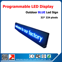 40*232cm blue outdoor led sign board P10 32*16 pixel led display screen waterproof advertising led screen running text