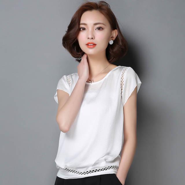 d6066f329 placeholder Plus Size Mulheres Camisas Blusas de Escritório Verde Branco  Vermelho Elegante Das Senhoras Blusa de Chiffon