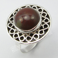 SILVER Designer MIX Agates Ethnic Ring Size 6.25 ! JEWELRY
