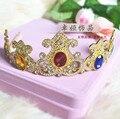 Liga de strass barroco crown hairband barroco mulheres pedaço cabeça cabelo jóias tiara acessórios do cabelo do casamento