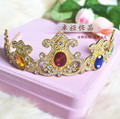 alloy rhinestone baroque crown hairband baroque hair jewelry tiara women head piece wedding hair accessories