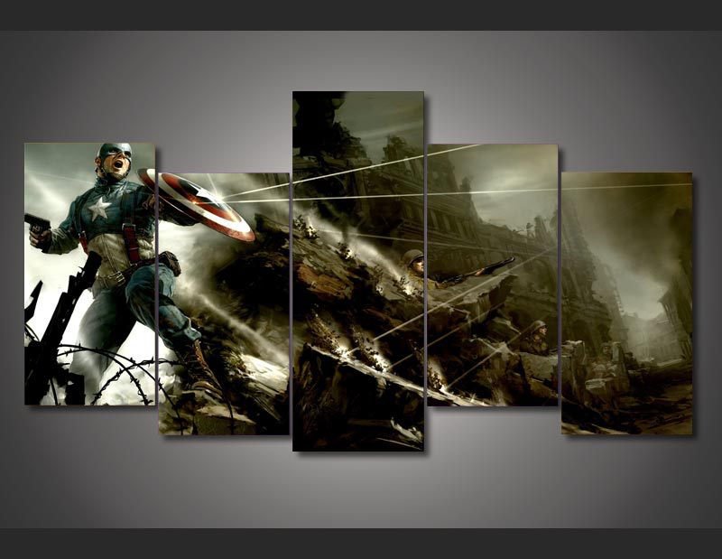 Captain America Wall Art framed printed captain america avenger comics painting wall art