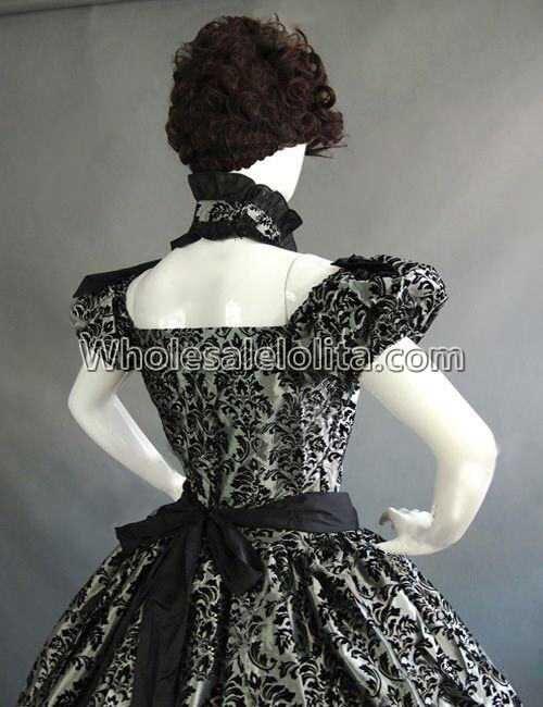 Vintage Costumes 1860 s guerre civile sud Belle gothique Lolita robe robes victoriennes - 6