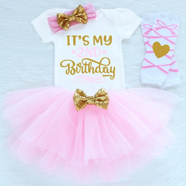 Baby Girl 2nd Birthday Clothes Kids Girl New Year Dresses For Girls