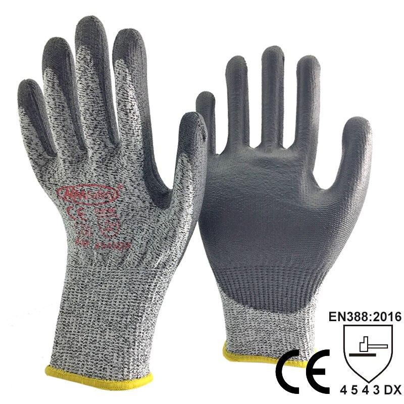 NMSafety Zapatos resistentes al corte guantes de trabajo de entrega carnicero trabajo guante hppe Anti corte guantes de seguridad