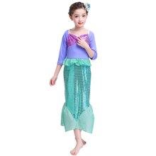 Mermaid Cosplay Dress Girls Fairy Tale Halloween Princess Fancy Up Cute Baby Kids Girl