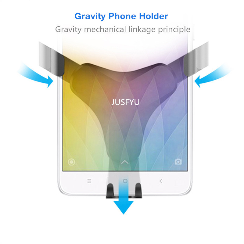 Image 5 - Gravity Bracket Car Phone Holder Flexible Universal Car Gravity Holder Support Mobile Phone Stand For iPhone Xr Xs Max Samsung-in Phone Holders & Stands from Cellphones & Telecommunications