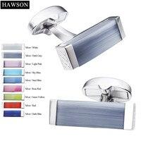 HAWSON Luxury Wedding Cufflinks Multi Color Cat Eye Stone Cufflinks For Groomsman High End Gift