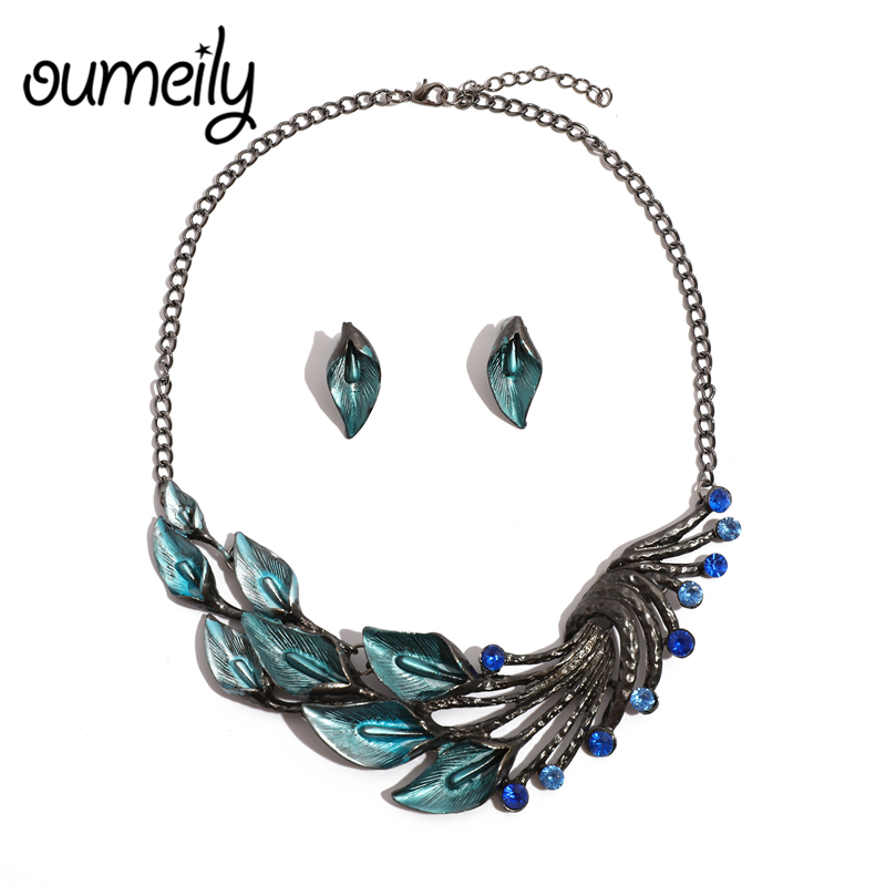 OUMEILY Jewelry-Sets Ethiopian Flower Nigerian Necklace Bridal-Gift African Bead Silver
