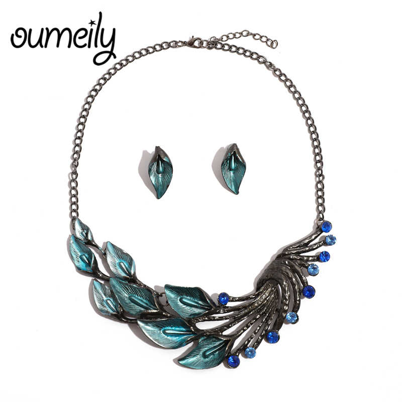 OUMEILY Jewelry Sets For Women Nigerian Necklace African Bead Silver Indian Bridal Gift Flower Ethiopian Wedding Jewelry Sets