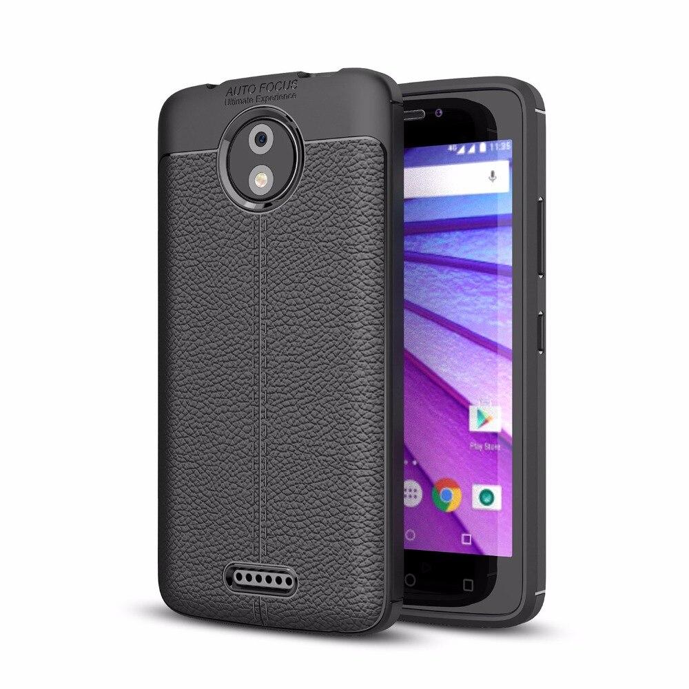 Для Motorola Moto C E4 C плюс G5 G5S плюс ультра тонкий кожаный чехол кожи Гибкая Резина TPU силикона Защитная случаи Обложка