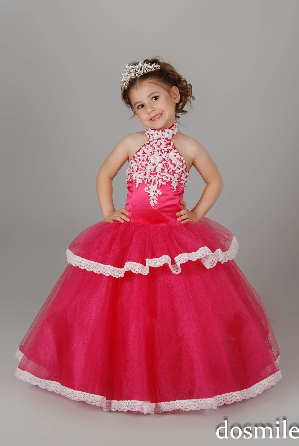 b1c424870 New Arrival Junoesque Pretty High Neck Girls Pageant dress kids ...