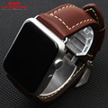 Laopijiang apple leather watch straps Iwatch watch strap leather belt connector 38/42mm containing black brown