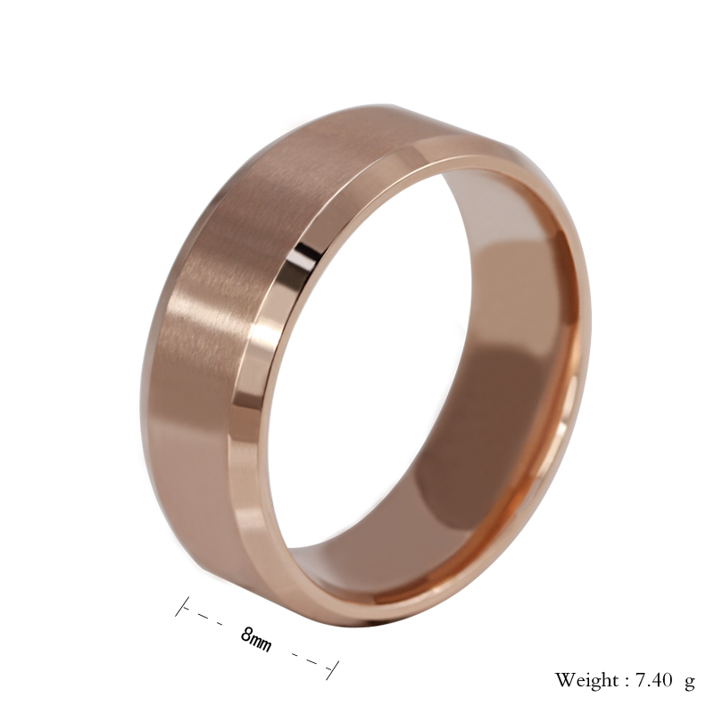 8mm Stainless Steel Ring Womens Men/'s Band Silver//Gold//Black//Rose Gold Size 5-15