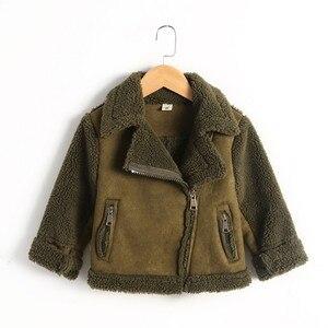 Image 5 - Nieuwe Meisjes En Jongens Jassen Winter Fur fleece jassen Unisex kids Uitloper Meisjes Jas 7CT069