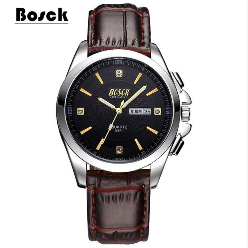 Watch Men's Watch Business Casual Steel Belt Waterproof Quartz Week Calendar Trend Watch цена и фото