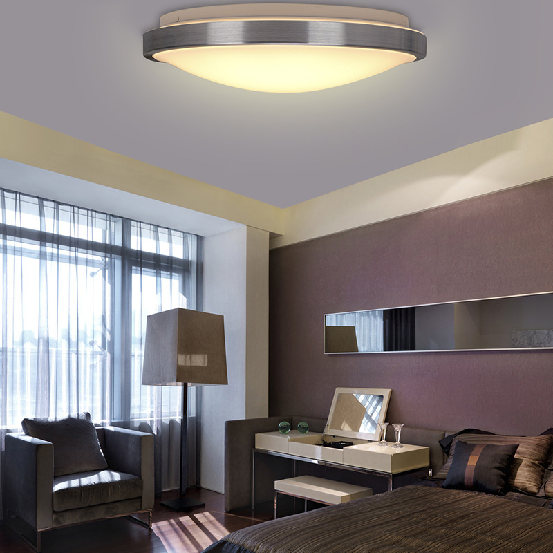 led bedroom ceiling lights modern aluminum acryl lampshade led ceiling lights 15789