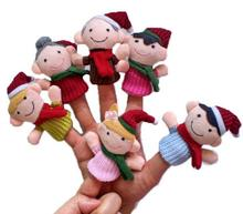 Marionetas de dedo Familia Navideña